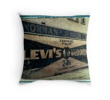 Levis Ad Throw Pillow