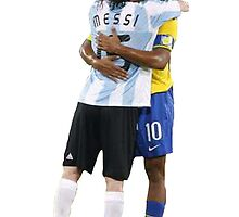 Ronaldinho and Messi by Enriic7