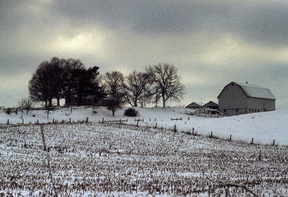 Barn in the Michigan Snow by Jim Haley