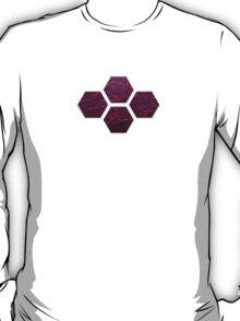 Hexagons in Space! (Purple) T-Shirt