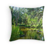 Beautiful Trees  Surrounding The Lagoon Throw Pillow