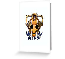 Cyberman - Doctor Who  Greeting Card