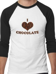 I Love Chocolate Men's Baseball ¾ T-Shirt