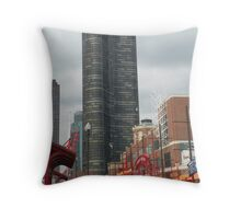 the streets of Chicago (from Navy Pier) Throw Pillow