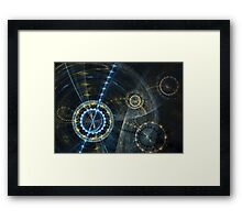 Clockwork movement Framed Print