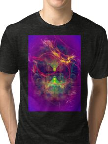 Confused Monkey - digital abstract art Tri-blend T-Shirt