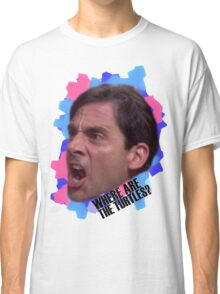 Michael Scott - Where Are The Turtles? Classic T-Shirt