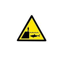 Danger Sharks Sign by mrdoomits