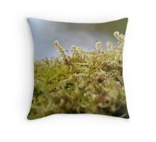 Mossy Macro Throw Pillow