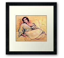 Portrait of Lucy sleeping Framed Print