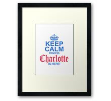 Princess Charlotte is Here Framed Print