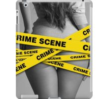 Crime scene girl police iPad Case/Skin