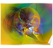 Dove - digital abstract art Poster