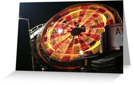 Swing Ride, Luna Park, Melbourne by Roz McQuillan