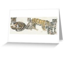 Clouded Leopard Wrap Greeting Card