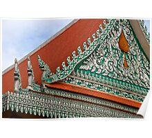 Wat Ounalom Roof - Phnom Penh, Cambodia. Poster