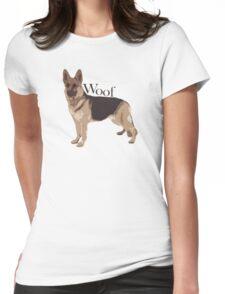 Woof - Alsatian Womens Fitted T-Shirt