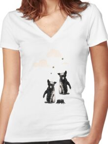 the bears Women's Fitted V-Neck T-Shirt