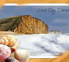 West Bay, Dorset - (Sand & Shells) by ifourdezign