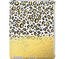 Gold Cheetah Luxe - animal print gold foil trendy modern design city urban brooklyn beach socal cali iPad Case/Skin