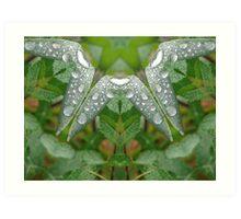 wet grass altered image Art Print