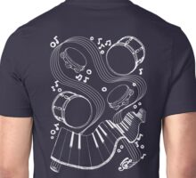 Musical Massage (white print) Unisex T-Shirt