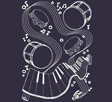 Musical Massage (white print) Unisex T-Shirt