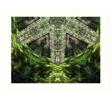 Cathedral in the forest, altered image Art Print