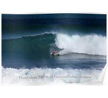 Gavin Colman 2009 World kneeboard Surfing Champion Poster