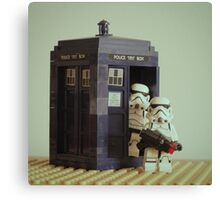 Lego TARDIS with Stormtroopers Canvas Print