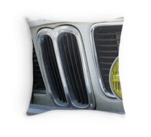 BMW - with funky yellow spotlights Throw Pillow