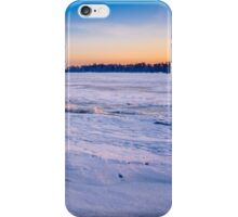 Frozen River at Sunrise iPhone Case/Skin