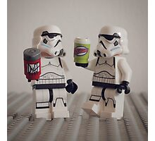 Lego Stormtroopers with drinks  Photographic Print