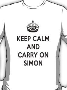 Keep Calm and Carry On Simon T-Shirt