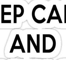 Keep Calm and Carry On Simon Sticker