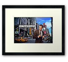 Barney Stinson - Awesome Framed Print