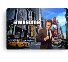 Barney Stinson - Awesome Canvas Print