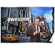 Barney Stinson - Awesome Poster