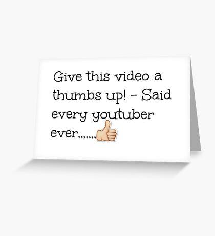Youtubers!  Greeting Card