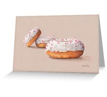 Three Ring Doughnuts, with sprinkles Greeting Card