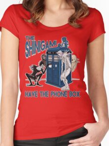 The Shinigami Have The Phone Box Women's Fitted Scoop T-Shirt