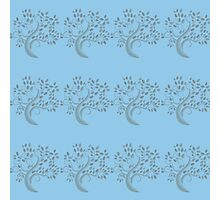"""""""Little Trees In Teal"""" Patterned Digital Art / Avalon Media Photographic Print"""