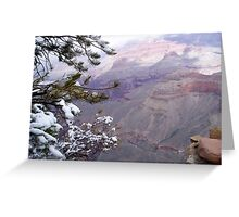 Snow in the Grand Canyon Greeting Card