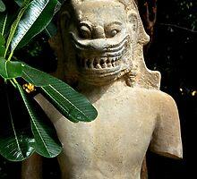 The Khmer Statue - Phnom Penh, Cambodia. by Tiffany Lenoir
