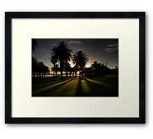 Sundown Riverside Drive Perth Framed Print
