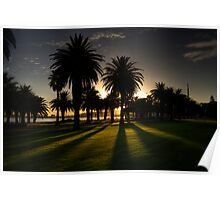 Sundown Riverside Drive Perth Poster