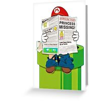 Mario on the Warp Pipe Greeting Card