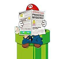 Mario on the Warp Pipe Photographic Print