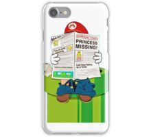 Mario on the Warp Pipe iPhone Case/Skin