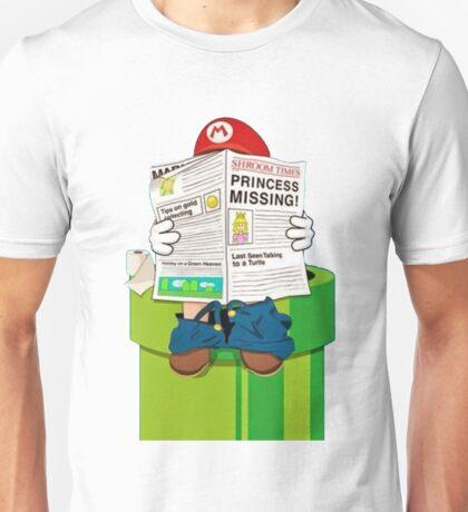 Mario on the Warp Pipe Unisex T-Shirt